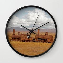 Train Going Nowhere Wall Clock