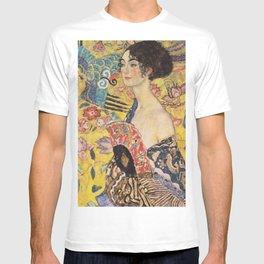 WOMAN WITH FAN - GUSTAV KLIMT T-shirt