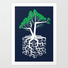 Cube Root Art Print