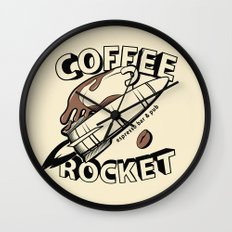 COFFEE ROCKET Wall Clock