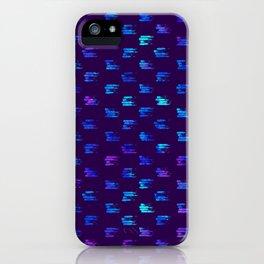 Blue strokes on dark iPhone Case