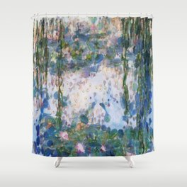 Garlic Lilies Water Lilies Fine Art Parody Shower Curtain