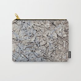 High Again - Jackson Pollock style abstract drip painting by Rasko Carry-All Pouch