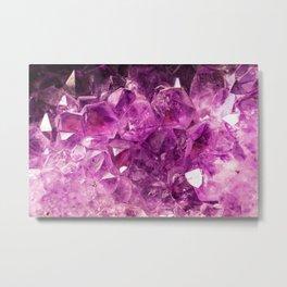 Amethyst Gemstone Metal Print