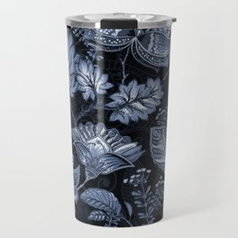 Blooms in the blue night Travel Mug