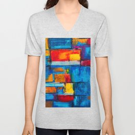 painting abstract Unisex V-Neck