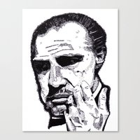the godfather Canvas Prints featuring The Godfather by tyler Guill
