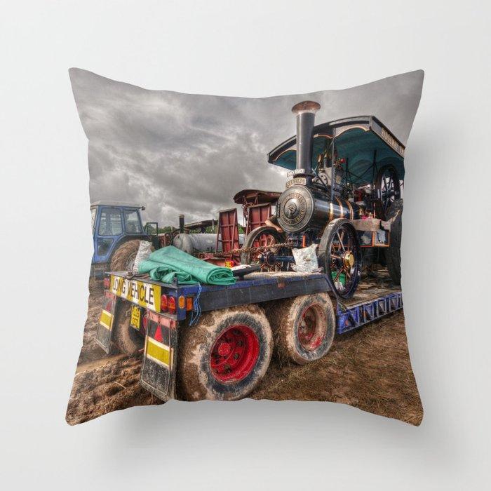 The Burrell Loader Throw Pillow