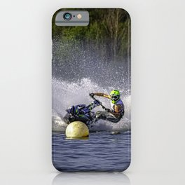 Jet ski on water iPhone Case