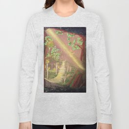 Faery forest cave Long Sleeve T-shirt