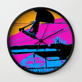 Tail Grabbing High Flying Scooter Wall Clock