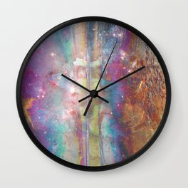 Galaxy Melt Wall Clock