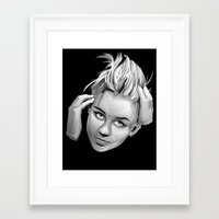 miley cyrus Framed Art Prints featuring Miley Cyrus by anomaly alice