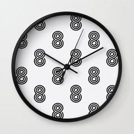 Crazy 8s Wall Clock