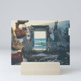 Kiss after the ruins Mini Art Print
