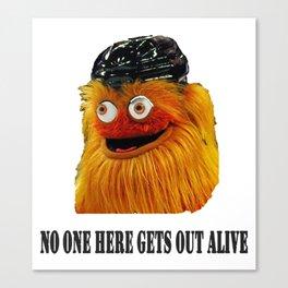 Gritty Mascot Canvas Print