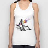 battlefield Tank Tops featuring Color shot I by Rafapasta
