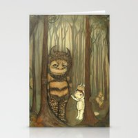 wild things Stationery Cards featuring Wild Things  by thepoppytree