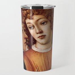 Sandro Botticelli - Angels 3. detail Travel Mug