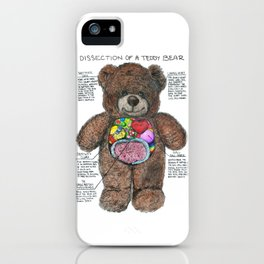 Dissection of a Teddy Bear iPhone Case