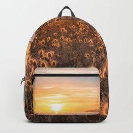 Golden light sunset summer hot sunset sicily island Backpack