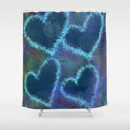 Four hearts Shower Curtain