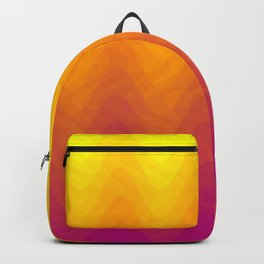 Pink and Yellow Ombre - Waves Backpack