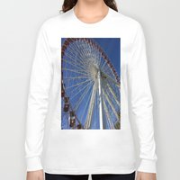 ferris wheel Long Sleeve T-shirts featuring Ferris Wheel by Blue Lightning Creative