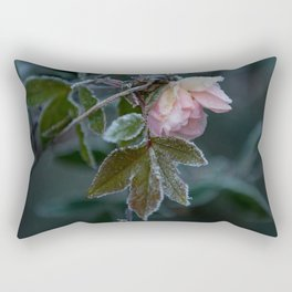Frost Covered Rose  Rectangular Pillow