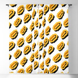 Coins pattern | from Super Mario Bros. | retrogaming Blackout Curtain