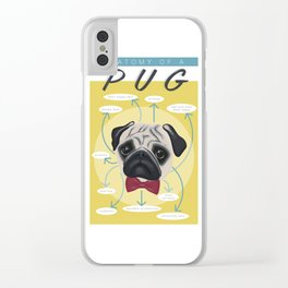 Anatomy of a Pug Clear iPhone Case
