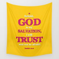 scripture Wall Tapestries featuring TRUST and not be afraid by Peter Gross