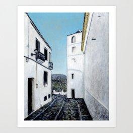 Torre del Reloj, Zahara, Spain Art Print