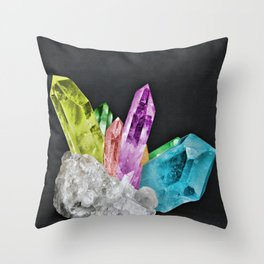 Chakra Rock Crystal - Geode Series Throw Pillow