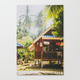 Koh Tao Beach House Canvas Print