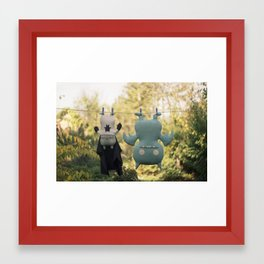 hanging around Framed Art Print