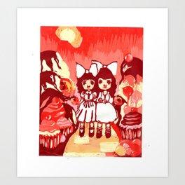Lollipop Girls. Art Print