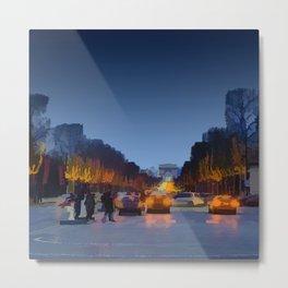 Champs-Elysees Metal Print