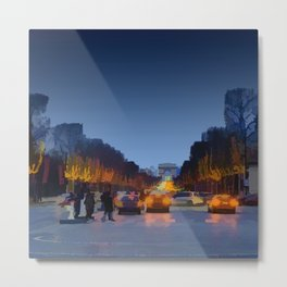 Champs-Elysees Metal Print