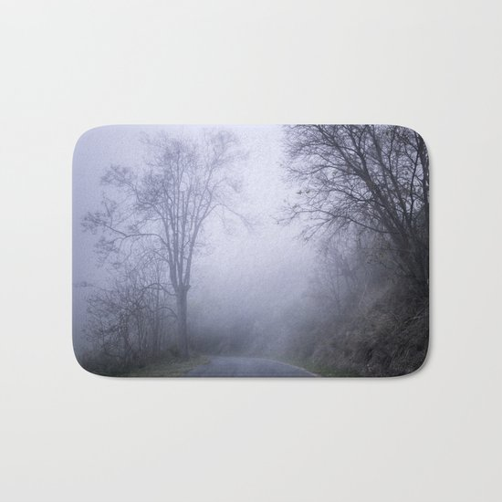 """Mountain road"". Into the woods. Bath Mat"
