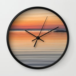 Ripples sea and sky Wall Clock