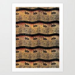 Pelican Pattern 2 (b) Art Print