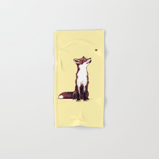 Brown Fox Looks at Thing Hand & Bath Towel