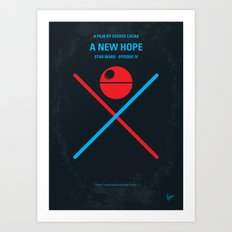 No154 My SW Episode IV minimal movie poster Art Print
