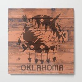 Oklahoma Flag Brand Metal Print