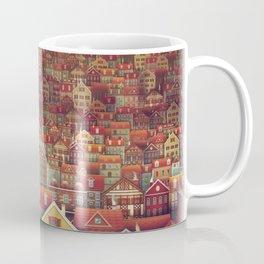 Cute City Street Scene ,Many Houses Coffee Mug