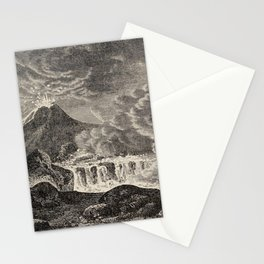 The infinitely great and the infinitely little - Félix Pouchet - 1874 Ink Volcano Illustration Stationery Cards