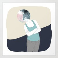 ying yang Art Prints featuring YING-YANG by Mireia Mullor