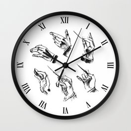 Conductor (pattern in black and white) Wall Clock