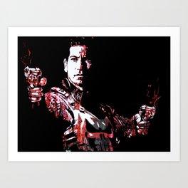Jon Bernthal's Punisher Portrait pop Art Print